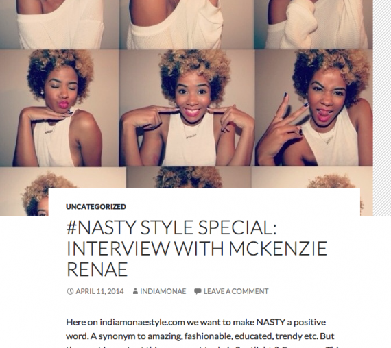 McKenzie Renae Style Feature on India Monae