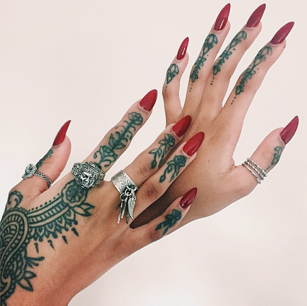 Dope Nails of the Day – Red Tattoo