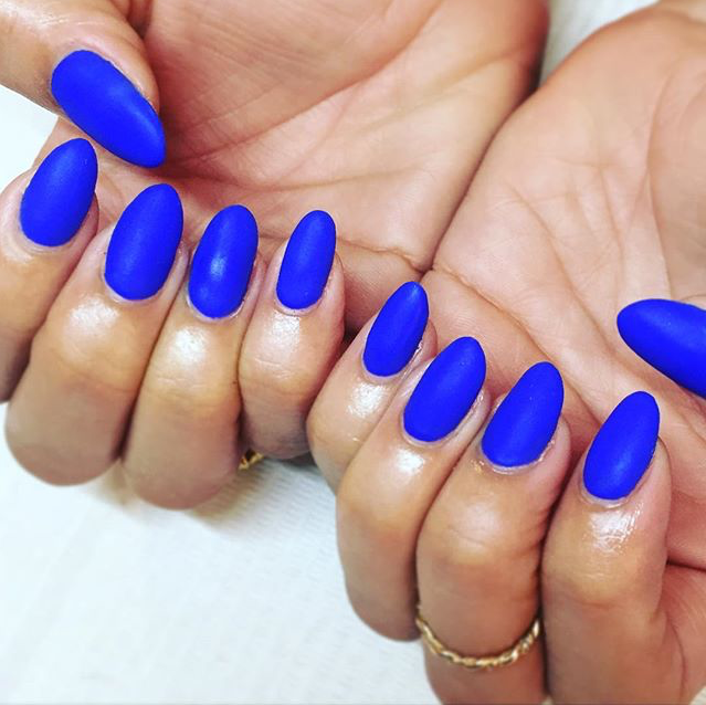 Dope Nails Of The Day- Matte Electric Blue
