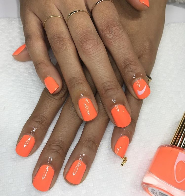 Dope Nails of the Day: Orange Creme
